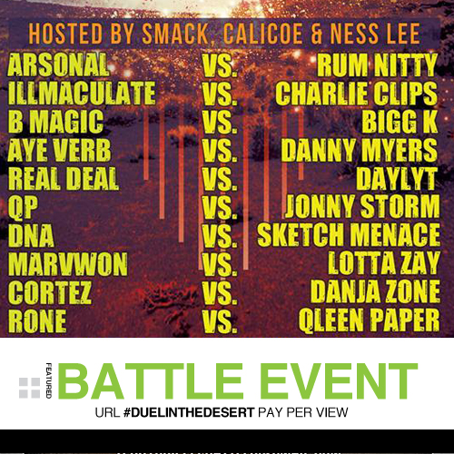 URL's Duel In The Desert Live Coverage